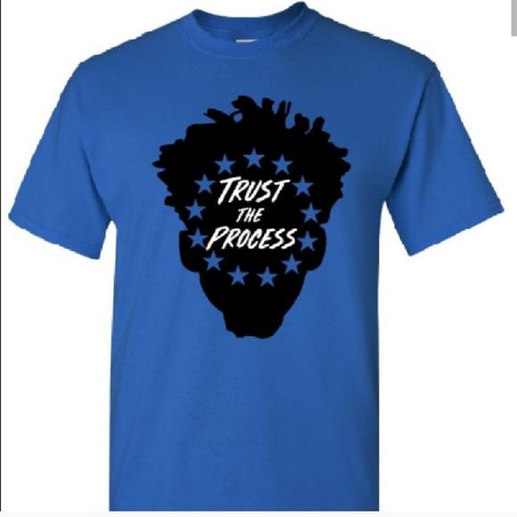 TRUST THE PROCESS  76ERS LOGO CUSTOM OLD SKOOL ART**
